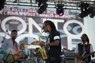Romain Virgo performing at Toronto Reggae Fest in Toronto, ON, on August 16, 2015. (Photo: Steve Danyleyko/Aesthetic Magazine)