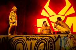 Die Antwoord performing at Time Festival 2015 at Fort York in Toronto, ON on Aug. 15, 2015. (Photo: Brandon Lorenzetti/Aesthetic Magazine)