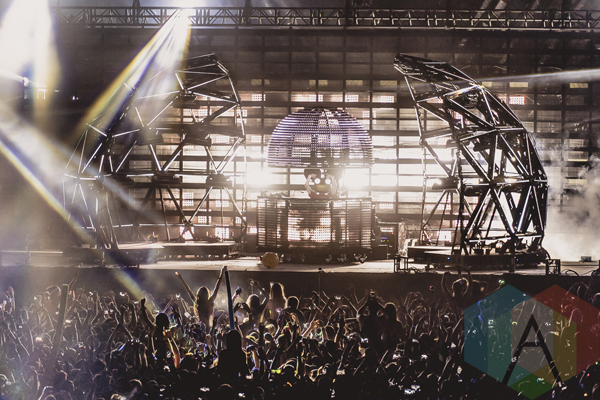Deadmau5 performing at VELD Music Festival 2015. (Photo: Angelo Marchini/Aesthetic Magazine)