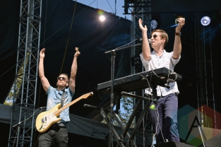 Aaron Sharp (L) and AJ Jackson of Saint Motel performing at the 2015 Budweiser Made in America Festival at Benjamin Franklin Parkway on Sept. 6, 2015 in Philadelphia, PA. (Photo: Kevin Mazur/Getty)