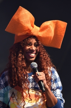Santigold performing at the 2015 Budweiser Made in America Festival at Benjamin Franklin Parkway on Sept. 6, 2015 in Philadelphia, PA. (Photo: Kevin Mazur/Getty)