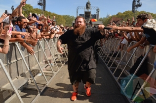 Action Bronson performing at the 2015 Budweiser Made in America Festival at Benjamin Franklin Parkway on Sept. 6, 2015 in Philadelphia, PA. (Photo: Kevin Mazur/Getty)