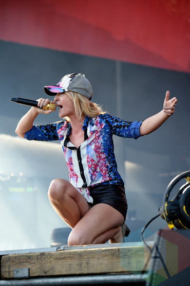 PHILADELPHIA, PA - SEPTEMBER 06: Musician Emily Haines of Metric performs onstage during the 2015 Budweiser Made in America Festival at Benjamin Franklin Parkway on September 6, 2015 in Philadelphia, Pennsylvania. (Photo by Kevin Mazur/Getty Images for Anheuser-Busch)