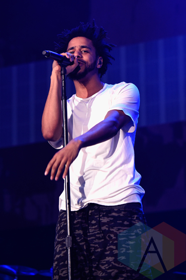 J Cole performing at the 2015 Budweiser Made in America Festival at Benjamin Franklin Parkway on Sept. 6, 2015 in Philadelphia, PA. (Photo: Kevin Mazur/Getty)