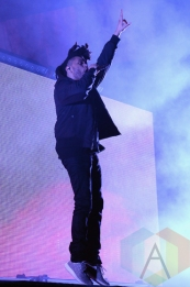 The Weeknd performing at the 2015 Budweiser Made in America Festival at Benjamin Franklin Parkway on Sept. 6, 2015 in Philadelphia, PA. (Photo: Kevin Mazur/Getty)