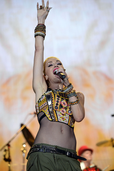 Gwen Stefani of No Doubt performing at the 2015 Kaaboo Del Mar Festival at the Del Mar Fairgrounds on Sept. 18, 2015 in Del Mar, CA. (Photo: C Flanigan/WireImage)