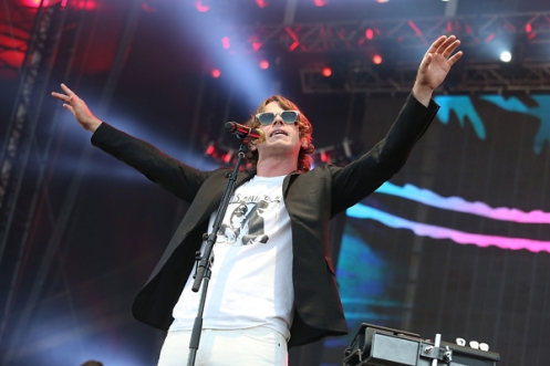 Mark Foster of Foster the People performing at the 2015 Kaaboo Del Mar Festival at the Del Mar Fairgrounds on Sept. 18, 2015 in Del Mar, CA. (Photo: C Flanigan/WireImage)