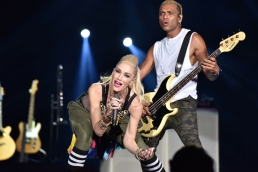 Gwen Stefani and Tony Kanal of No Doubt performing at the 2015 Kaaboo Del Mar Festival at the Del Mar Fairgrounds on Sept. 18, 2015 in Del Mar, CA. (Photo: WireImage)