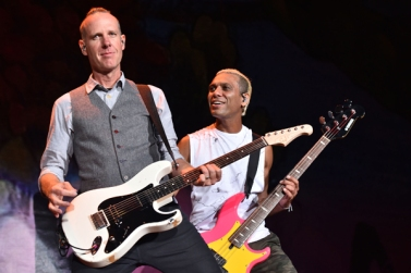 Tom Dumont and Tony Kanal of No Doubt performing at the 2015 Kaaboo Del Mar Festival at the Del Mar Fairgrounds on Sept. 18, 2015 in Del Mar, CA. (Photo: C. Flanigan/WireImage)