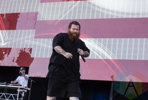 Action Bronson performing at the 2015 Budweiser Made in America Festival at Benjamin Franklin Parkway on Sept. 6, 2015 in Philadelphia, PA. (Photo: Jaime Schultz/Aesthetic Magazine)