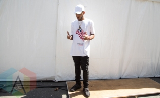 Bizzy Crook at the 2015 Budweiser Made in America Festival at Benjamin Franklin Parkway in Philadelphia, PA. (Photo: Jaime Schultz/Aesthetic Magazine)