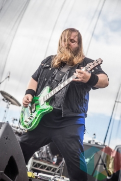 Cancer Bats performing at Riot Fest Toronto 2015 at Downsview Park in Toronto, ON on Sept. 19, 2015. (Photo: Dale Benvenuto/Aesthetic Magazine)