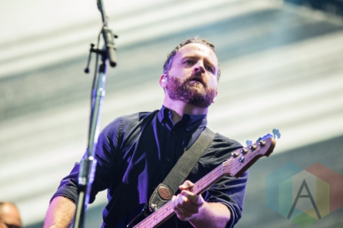 Nick Harmer of Death Cab for Cutie performing at the 2015 Budweiser Made in America Festival at Benjamin Franklin Parkway on Sept. 5, 2015 in Philadelphia, PA. (Photo: Jaime Schultz/Aesthetic Magazine)