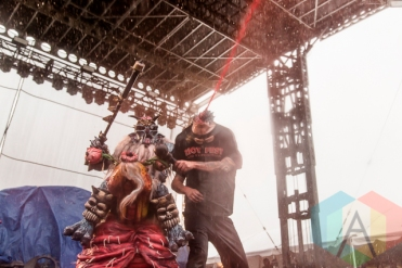 GWAR performing at Riot Fest Toronto 2015 at Downsview Park in Toronto, ON on Sept. 19, 2015. (Photo: Dale Benvenuto/Aesthetic Magazine)