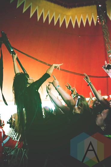 Bo Ningen performing at Leeds Festival 2015 on Aug. 29, 2015. (Photo: Priti Shikotra/Aesthetic Magazine)