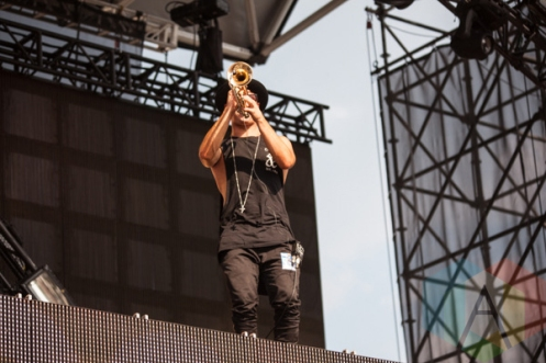 Will Sparks & Timmy Trumpet performing at Mount Woozy 2015 at Echo Beach in Toronto on Sept. 7, 2015. (Photo: Liam Keery/Aesthetic Magazine)