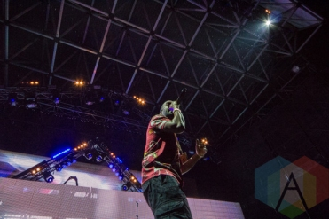 Juicy J performing at Mount Woozy 2015 at Echo Beach in Toronto on Sept. 7, 2015. (Photo: Liam Keery/Aesthetic Magazine)