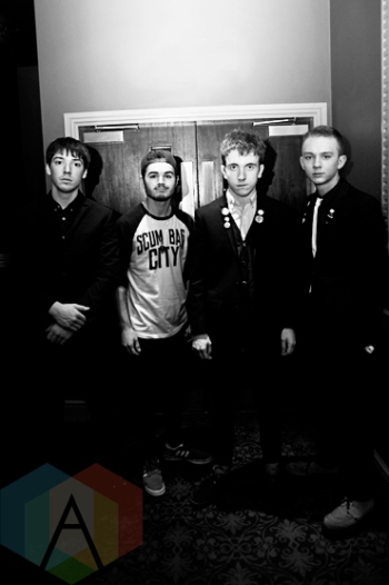 The Strypes backstage at The Ritz in Manchester, UK on Sept. 26, 2015. (Photo: Priti Shikotra/Aesthetic Magazine)