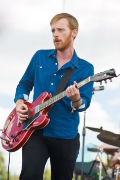 Kevin Devine performing at Riot Fest Chicago in Chicago, IL on Sept. 13, 2015. (Photo: Katie Hovland)