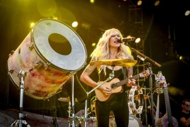 Sarah Blackwood of Walk Off The Earth performing at CityFolk 2015 at Lansdowne Park in Ottawa, ON on Sept. 17, 2015. (Photo: Mark Horton)