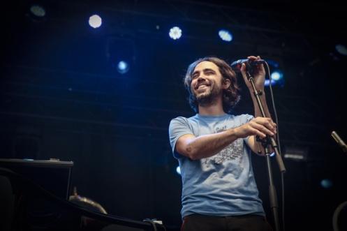 Patrick Watson performing at CityFolk Festival 2015 at Lansdowne Park in Ottawa, ON on Sept. 18, 2015. (Photo: Mark Horton)