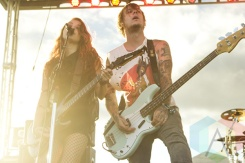 Courage My Love performing at Riot Fest Toronto 2015 at Downsview Park in Toronto, ON on Sept. 19, 2015. (Photo: Alyssa Balistreri/Aesthetic Magazine)