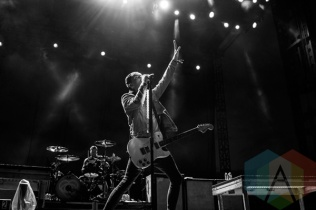 All Time Low performing at Riot Fest Toronto 2015 at Downsview Park in Toronto, ON on Sept. 19, 2015. (Photo: Alyssa Balistreri/Aesthetic Magazine)