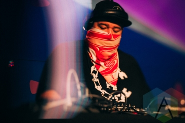 A Tribe Called Red performing at Rifflandia 2015 on Sept. 18, 2015. (Photo: Steven Shepherd/Aesthetic Magazine)