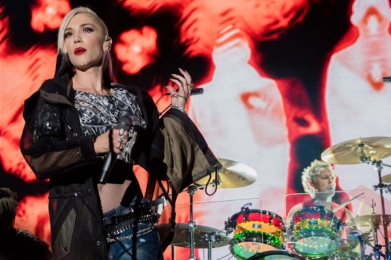 Gwen Stefani of No Doubt performing at Riot Fest Chicago in Chicago, IL on Sept. 11, 2015. (Photo: Josh Mellin/Aesthetic Magazine)