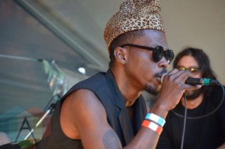 Pierre Kwenders performing at Camp Wavelength in Toronto, ON on Aug. 30, 2015. (Photo: Justin Roth/Aesthetic Magazine)