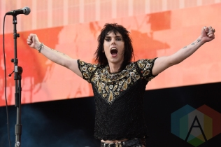 Luke Spiller of The Struts performing at the 2015 Budweiser Made in America Festival at Benjamin Franklin Parkway on Sept. 5, 2015 in Philadelphia, PA. (Photo: Kevin Mazur/Getty)