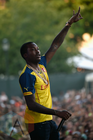 Meek Mill performing at the 2015 Budweiser Made in America Festival at Benjamin Franklin Parkway on Sept. 5, 2015 in Philadelphia, PA. (Photo: Kevin Mazur/Getty)