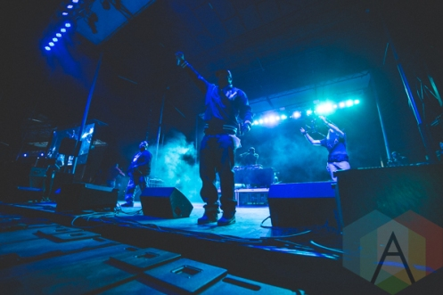 Raekwon and Ghostface Killah performing at Thrival Festival in Pittsburgh, PA on Sept. 26, 2015. (Photo: Emily Kovacic/Aesthetic Magazine)