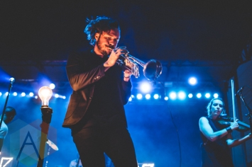 San Fermin performing at Thrival Festival in Pittsburgh, PA on Sept. 26, 2015. (Photo: Emily Kovacic/Aesthetic Magazine)