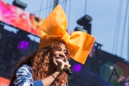 Santigold performing at the 2015 Budweiser Made in America Festival at Benjamin Franklin Parkway on Sept. 6, 2015 in Philadelphia, PA. (Photo: Jaime Schultz/Aesthetic Magazine)