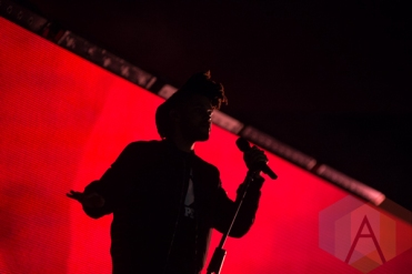 The Weeknd performing at the 2015 Budweiser Made in America Festival at Benjamin Franklin Parkway on Sept. 6, 2015 in Philadelphia, PA. (Photo: Jaime Schultz/Aesthetic Magazine)