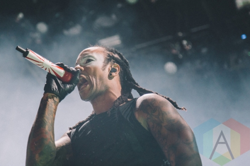 The Prodigy performing at Riot Fest Toronto 2015 at Downsview Park in Toronto, ON on Sept. 20, 2015. (Photo: Rick Clifford)