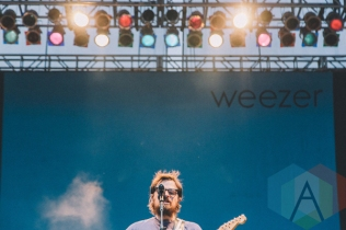 Weezer performing at Riot Fest Toronto 2015 at Downsview Park in Toronto, ON on Sept. 20, 2015. (Photo: Rick Clifford)
