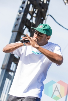 Tyler The Creator performing at Riot Fest Toronto 2015 at Downsview Park in Toronto, ON on Sept. 20, 2015. (Photo: Dale Benvenuto/Aesthetic Magazine)