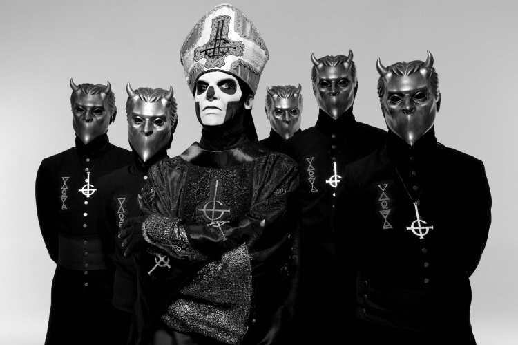 Swedish heavy metal band Ghost.