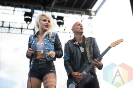 Barb Wire Dolls performing at Riot Fest Chicago in Chicago, IL on Sept. 11, 2015. (Photo: Katie Kuropas/Aesthetic Magazine)