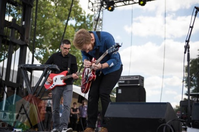 Kevin Devine performing at Riot Fest Chicago in Chicago, IL on Sept. 13, 2015. (Photo: Katie Kuropas/Aesthetic Magazine)