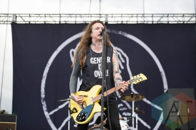 Against Me performing at Riot Fest Chicago in Chicago, IL on Sept. 11, 2015. (Photo: Katie Kuropas/Aesthetic Magazine)