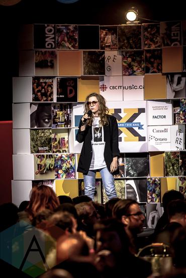 Simone Schmidt at the 2015 Polaris Music Prize gala in Toronto, ON on Sept 21, 2015. (Photo: Angelo Marchini/Aesthetic Magazine)