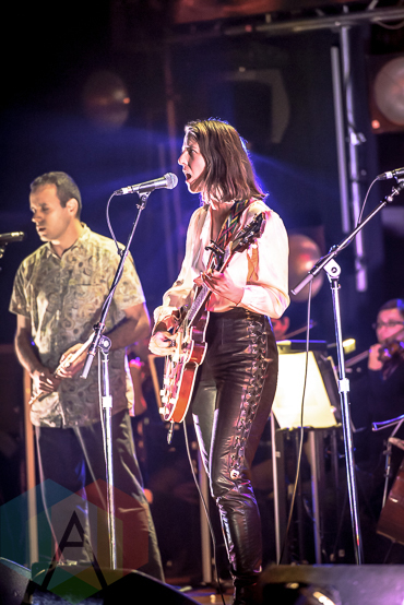 Jennifer Castle performing at the 2015 Polaris Music Prize gala in Toronto, ON on Sept 21, 2015. (Photo: Angelo Marchini/Aesthetic Magazine)