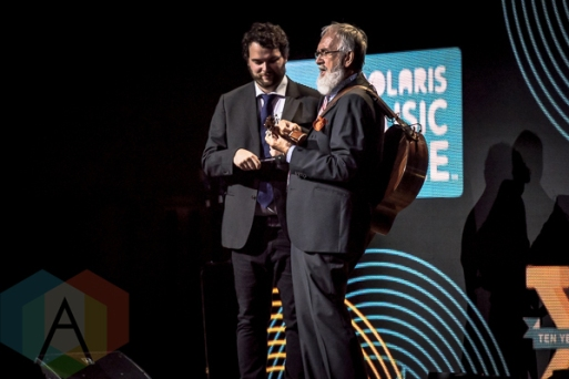 Fred Penner at the 2015 Polaris Music Prize gala in Toronto, ON on Sept 21, 2015. (Photo: Angelo Marchini/Aesthetic Magazine)