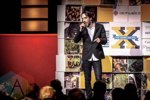 Dan Boeckner at the 2015 Polaris Music Prize gala in Toronto, ON on Sept 21, 2015. (Photo: Angelo Marchini/Aesthetic Magazine)