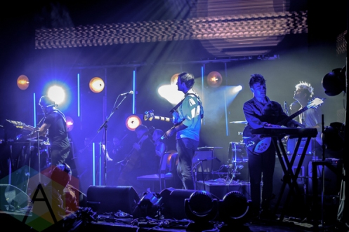 Viet Cong performing at the 2015 Polaris Music Prize gala in Toronto, ON on Sept 21, 2015. (Photo: Angelo Marchini/Aesthetic Magazine)