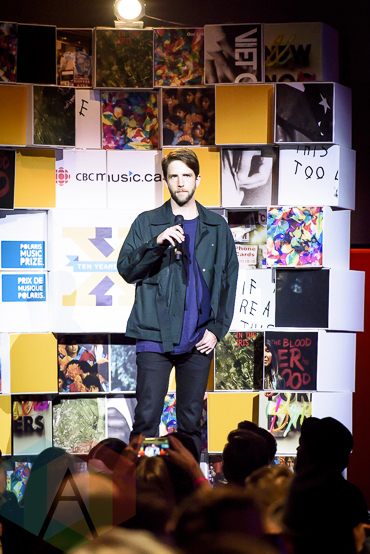 Owen Pallett at the 2015 Polaris Music Prize gala in Toronto, ON on Sept 21, 2015. (Photo: Angelo Marchini/Aesthetic Magazine)