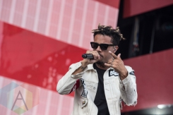 Vic Mensa performing at the 2015 Budweiser Made in America Festival at Benjamin Franklin Parkway on Sept. 5, 2015 in Philadelphia, PA. (Photo: Jaime Schultz/Aesthetic Magazine)